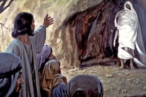 Lazarus raised