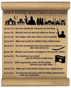 isis daily devotion violent verses quran islam
