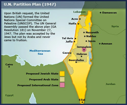 Map Israel May 14 1948